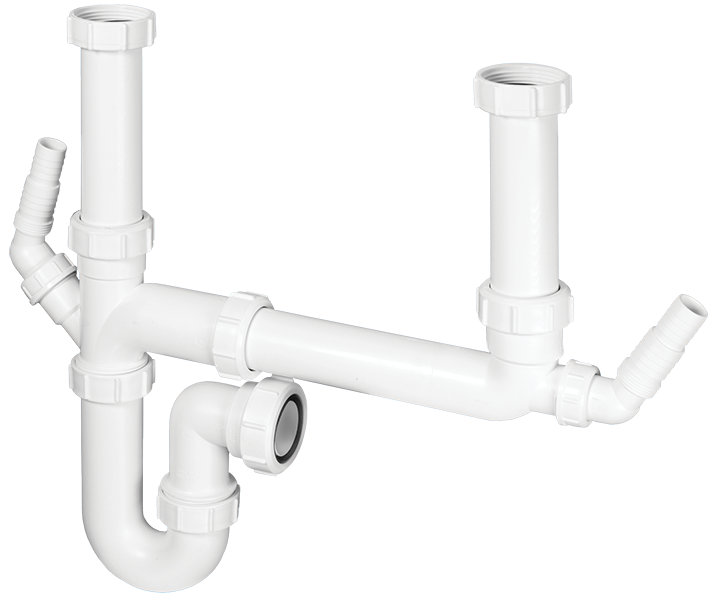 Double Bowl Plumbing Kit for Sink