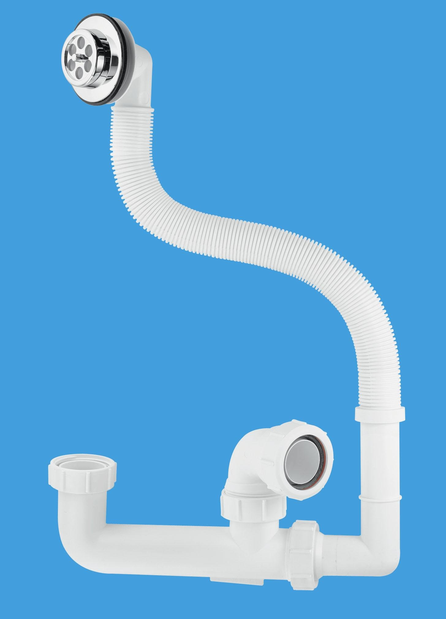 60mm Seal Extended Body Bath Trap with Flexible Overflow