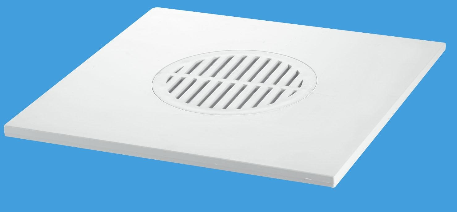 200mm Square White ABS Tile