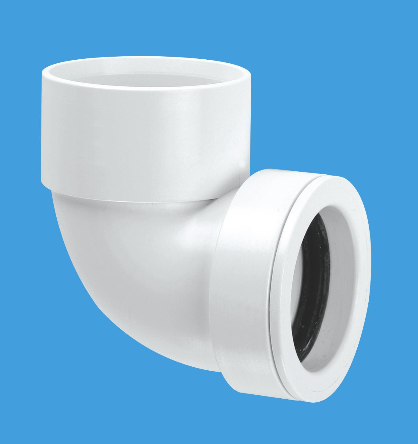 90° Solvent Weld Bend x 32mm Pushfit