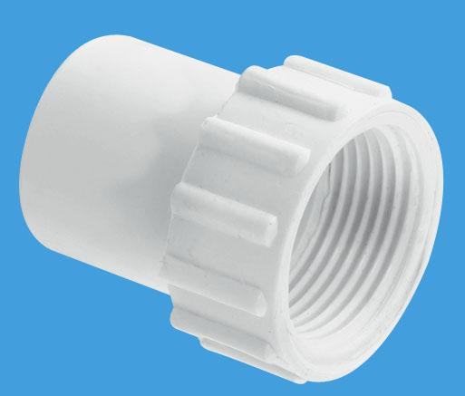 Straight Female Overflow Coupling with fixed nut