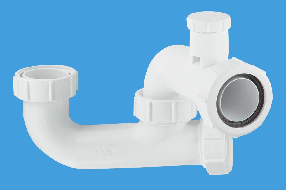 50mm Seal Anti-Syphon Bath Trap  with Cleaning Eye