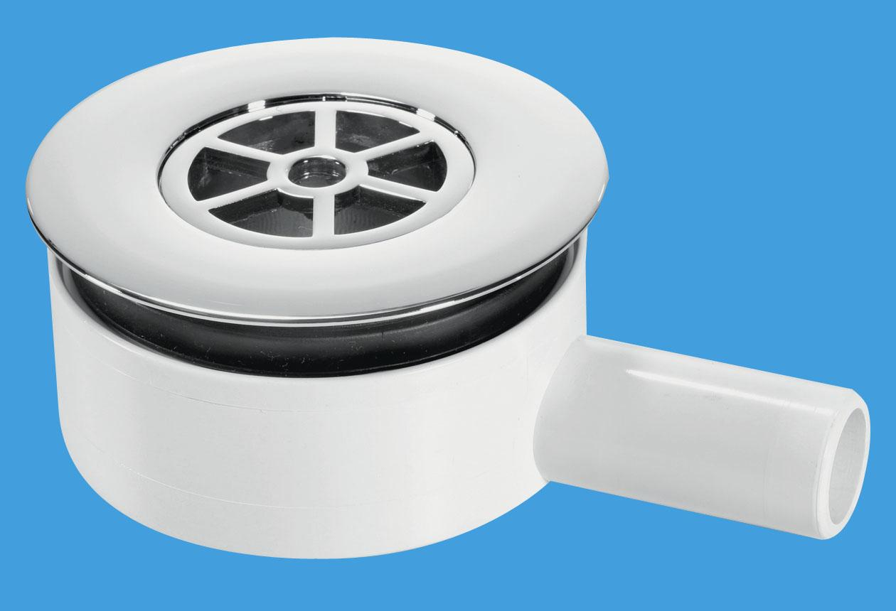 Pumped Shower Waste with 22mm Plain Tail Outlet