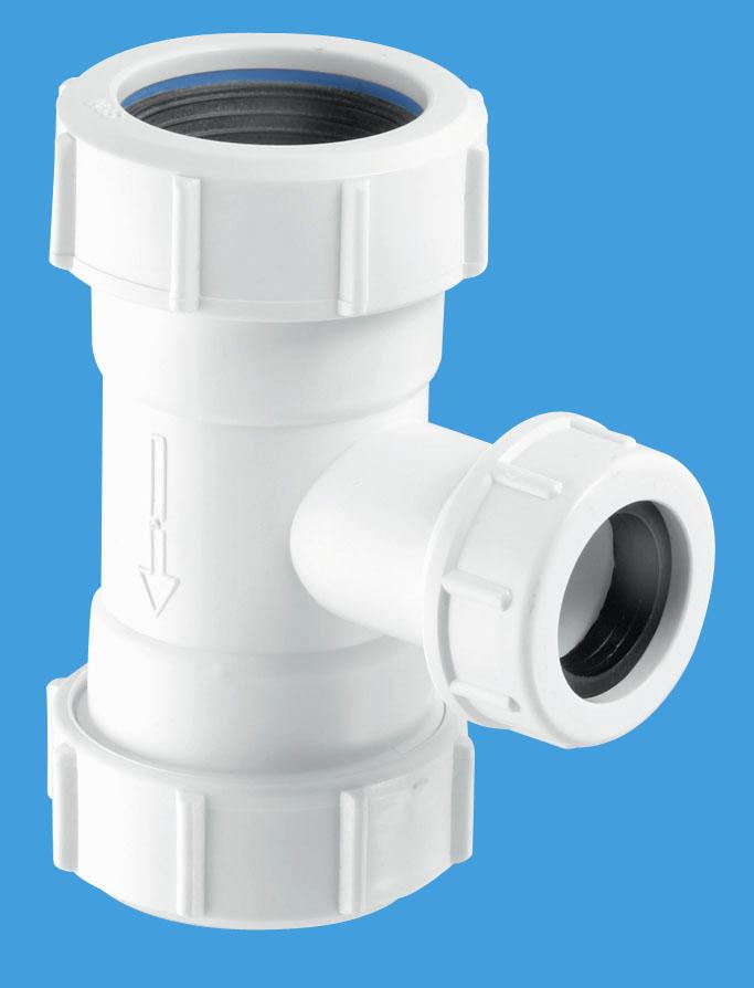 Flush Pipe Tee Piece for WC Overflow