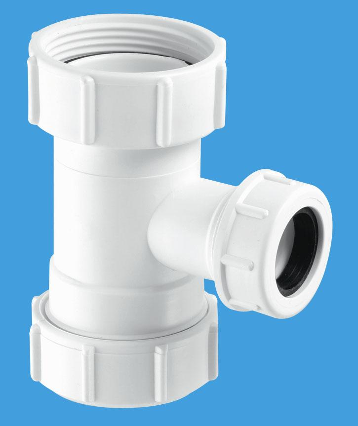 Tee Piece with BSP nut for WC Overflow
