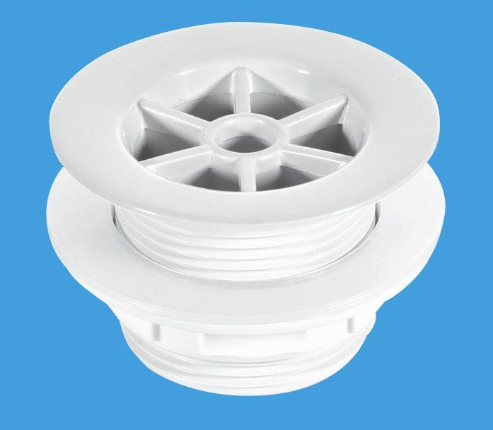 White Plastic Shower Waste