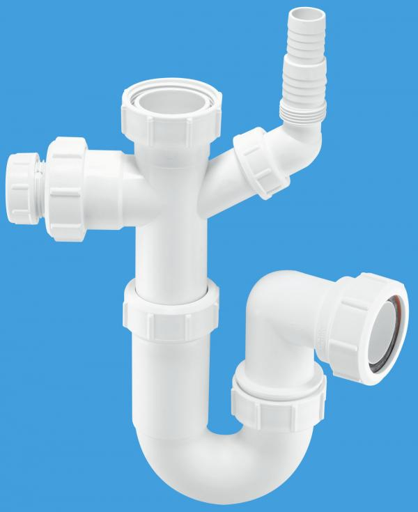 Tubular Swivel Sink Trap with WM and 19/23mm pipe connection