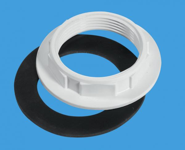 White Plastic Backnut