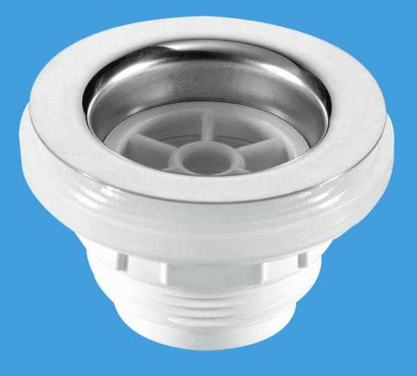 Backnut Bath Waste - SS Flange