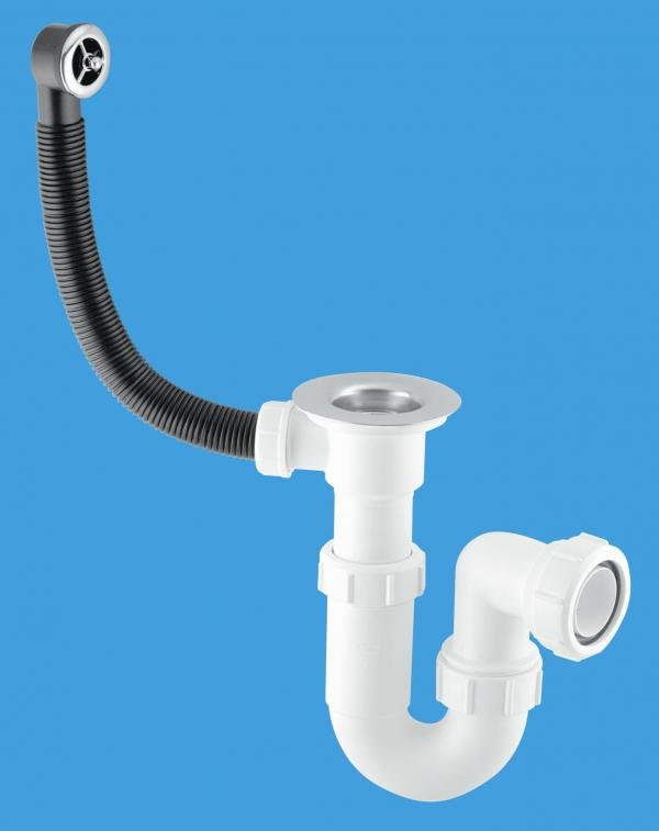 Adjustable Inlet Sink Trap with Centre Pin Waste