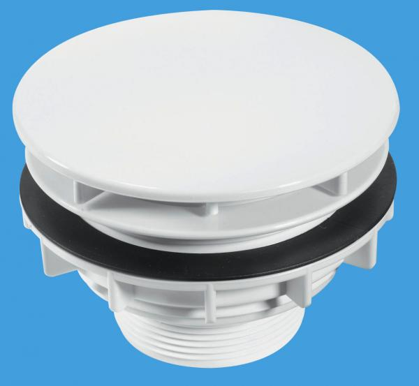Plain White Flange High Flow Shower Waste