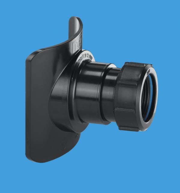 Black Mechanical Soil Pipe Boss Connector
