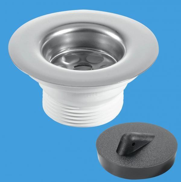85mm Flange Centre Pin Sink Waste