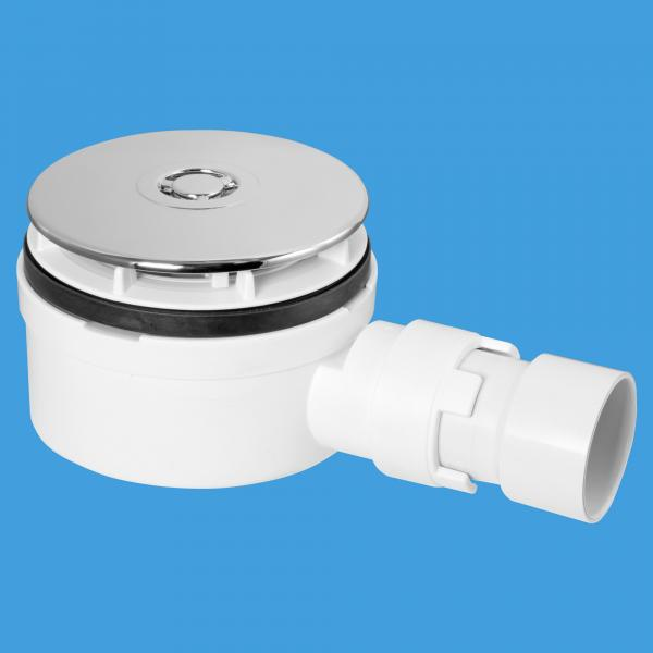 90mm Shower Trap with Non-Return Valve