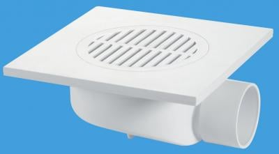 FD90-T6WH 150mm Square White ABS