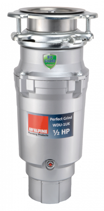 WDU-1UK 1/2 HP Food Waste Disposer with wall switch