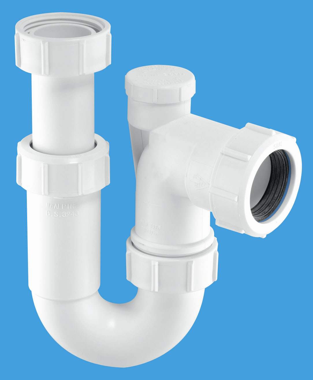 Adjustable Inlet Tubular Swivel Anti-Syphon 'P' Trap