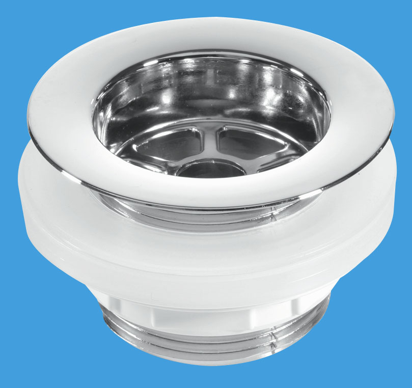 Backnut Bath Waste - CP Plastic Flange