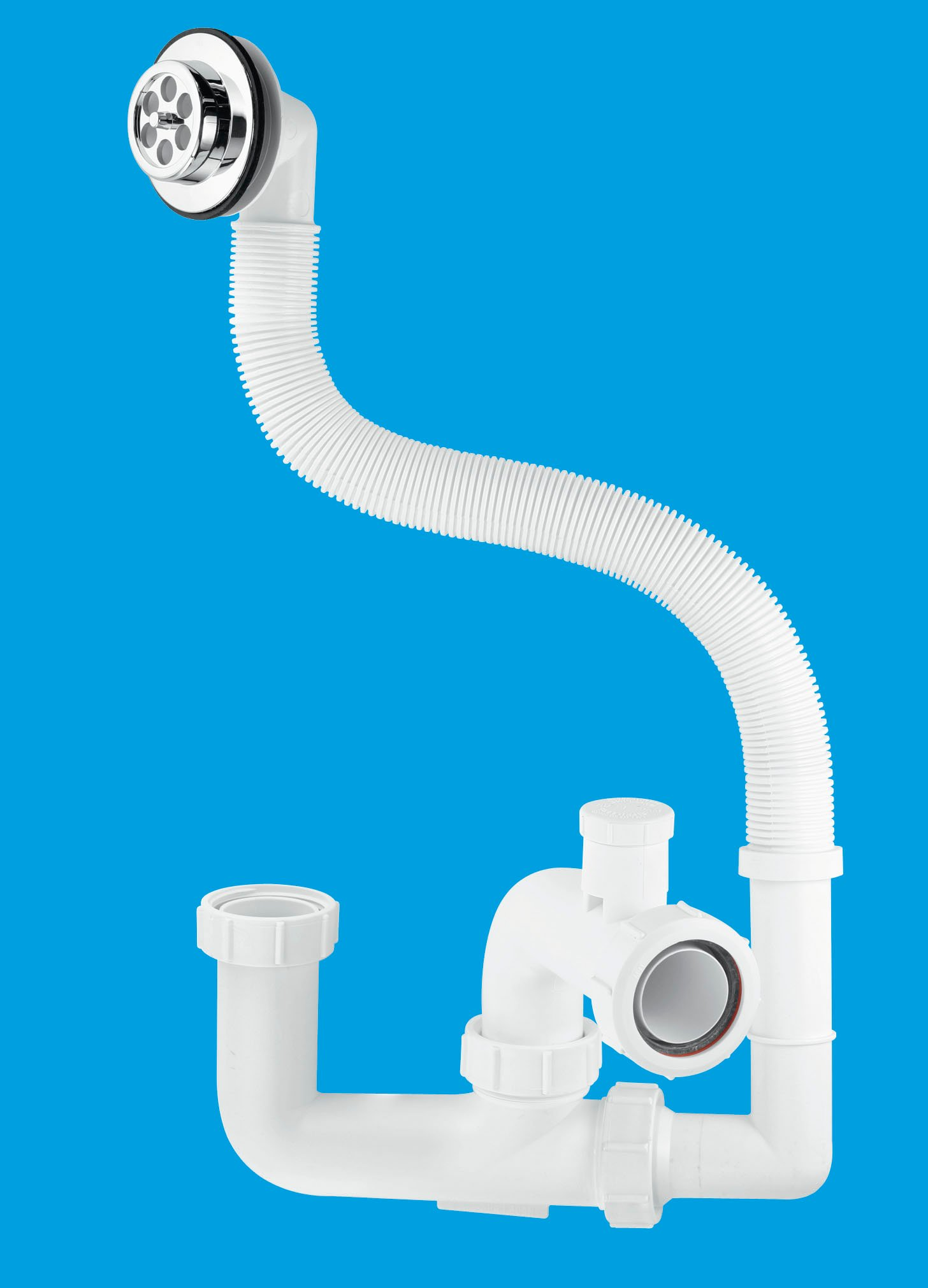 75mm Seal  Anti-Syphon Bath Trap with Flexible Overflow