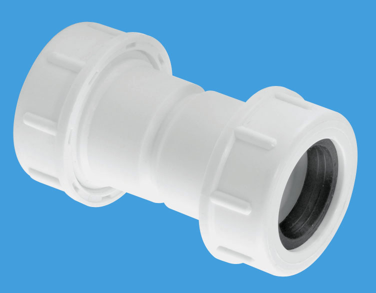 Flexible to Rigid Overflow Pipe Straight Connector