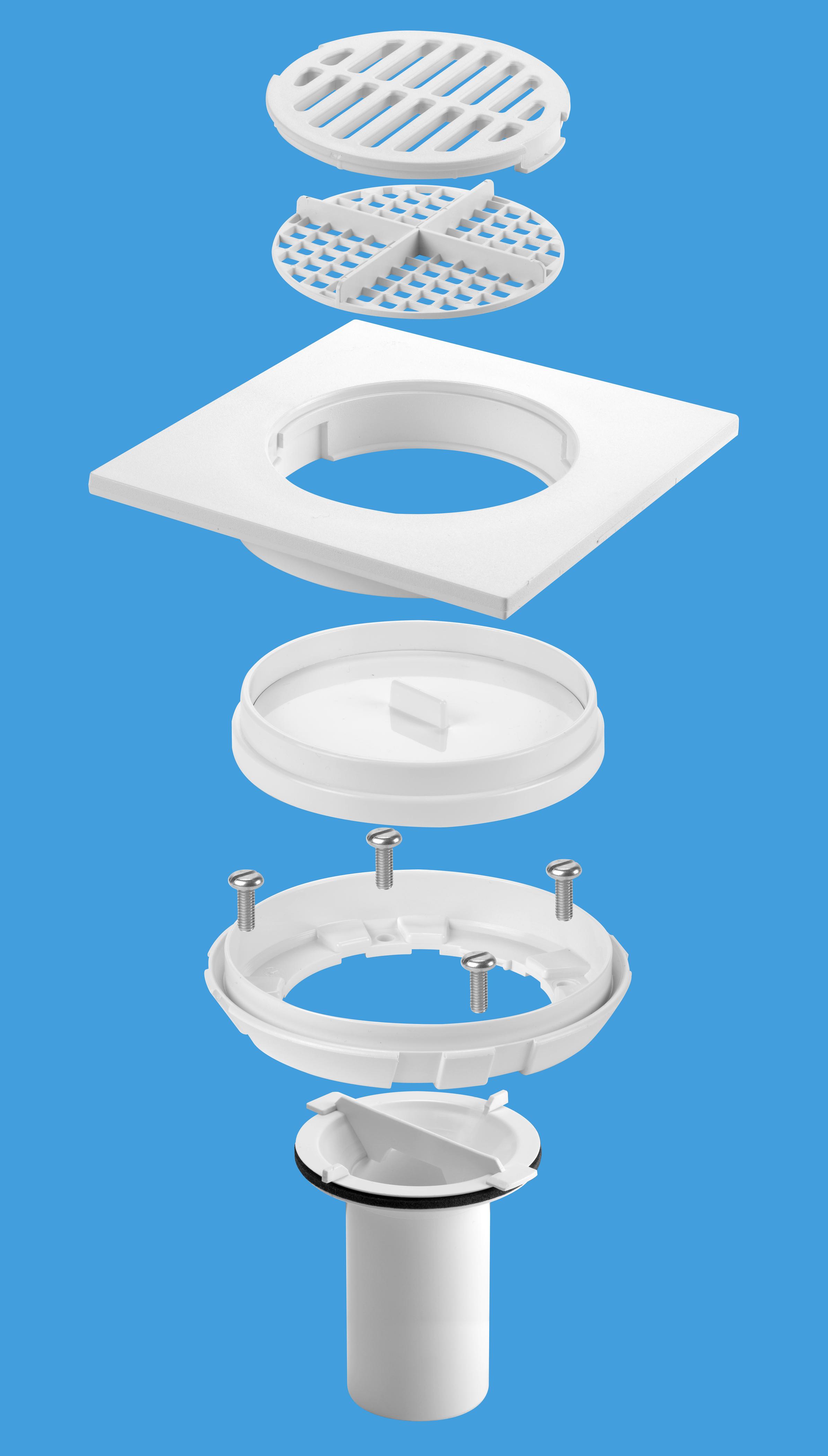 TSG1/TSG2 Tiled Floor Gully Conversion Kit - White