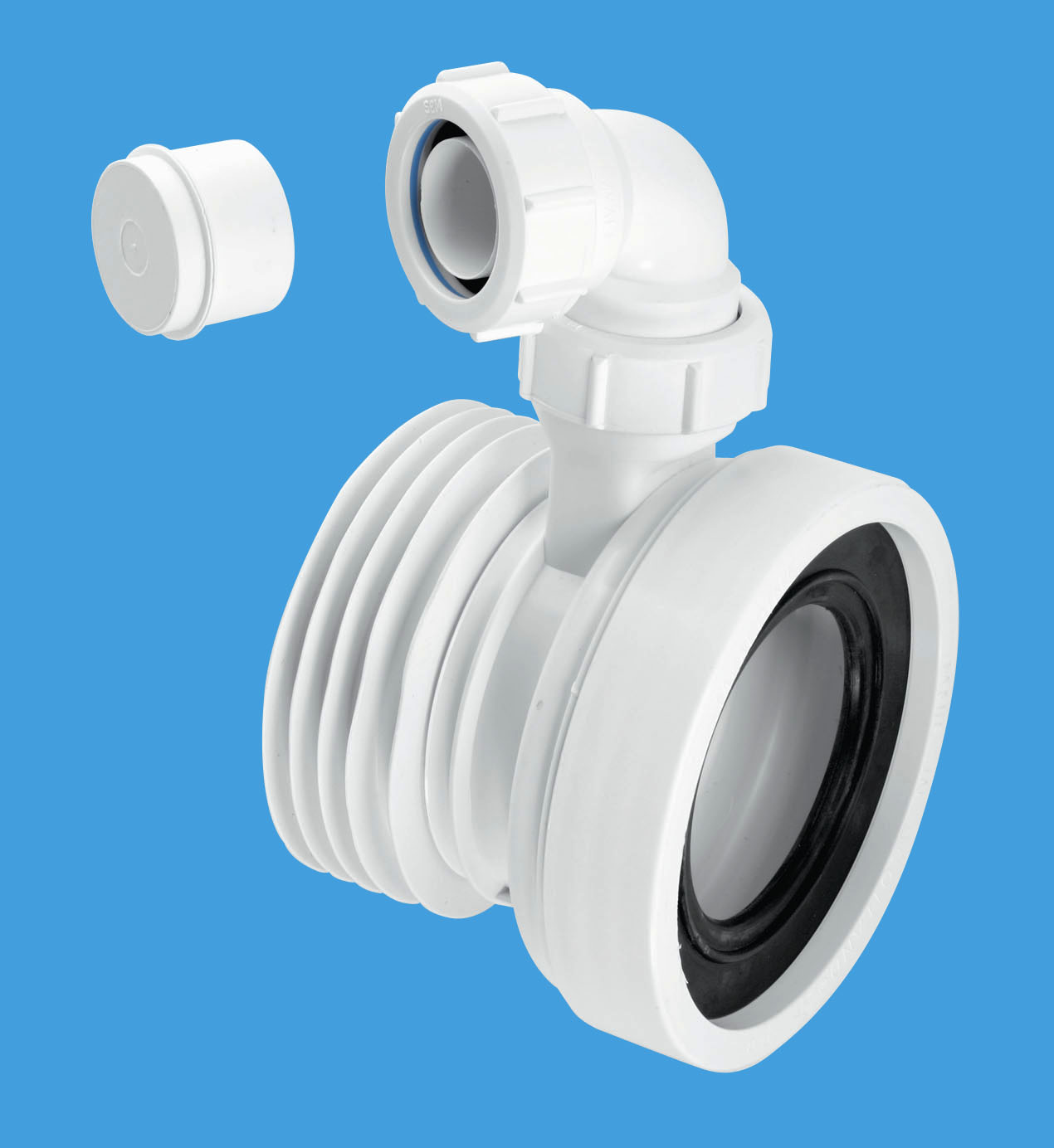 Straight Rigid WC Connector with Vent Boss