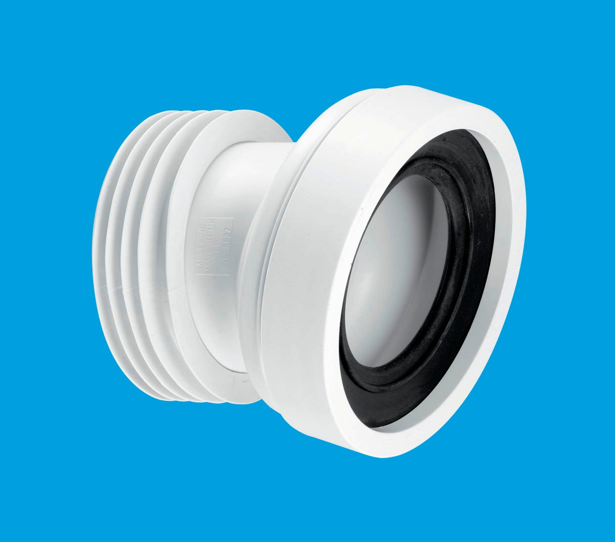 14 angle rigid wc connector mcalpine plumbing products for 90mm soil pipe