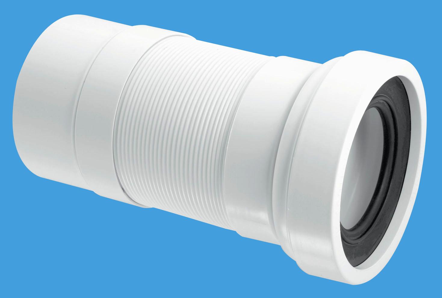 Plain End Outlet Straight Flexible WC Connector
