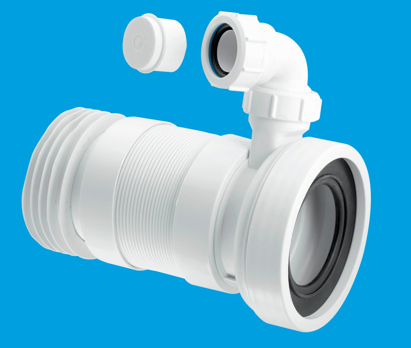 Straight Flexible Wc Connector With Vent Boss Mcalpine
