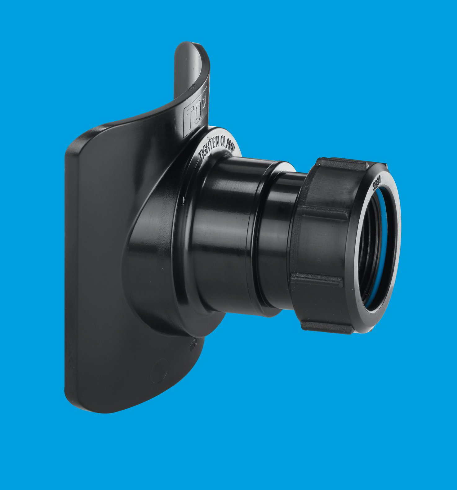 Black Mechanical Soil Pipe Boss Connector Mcalpine