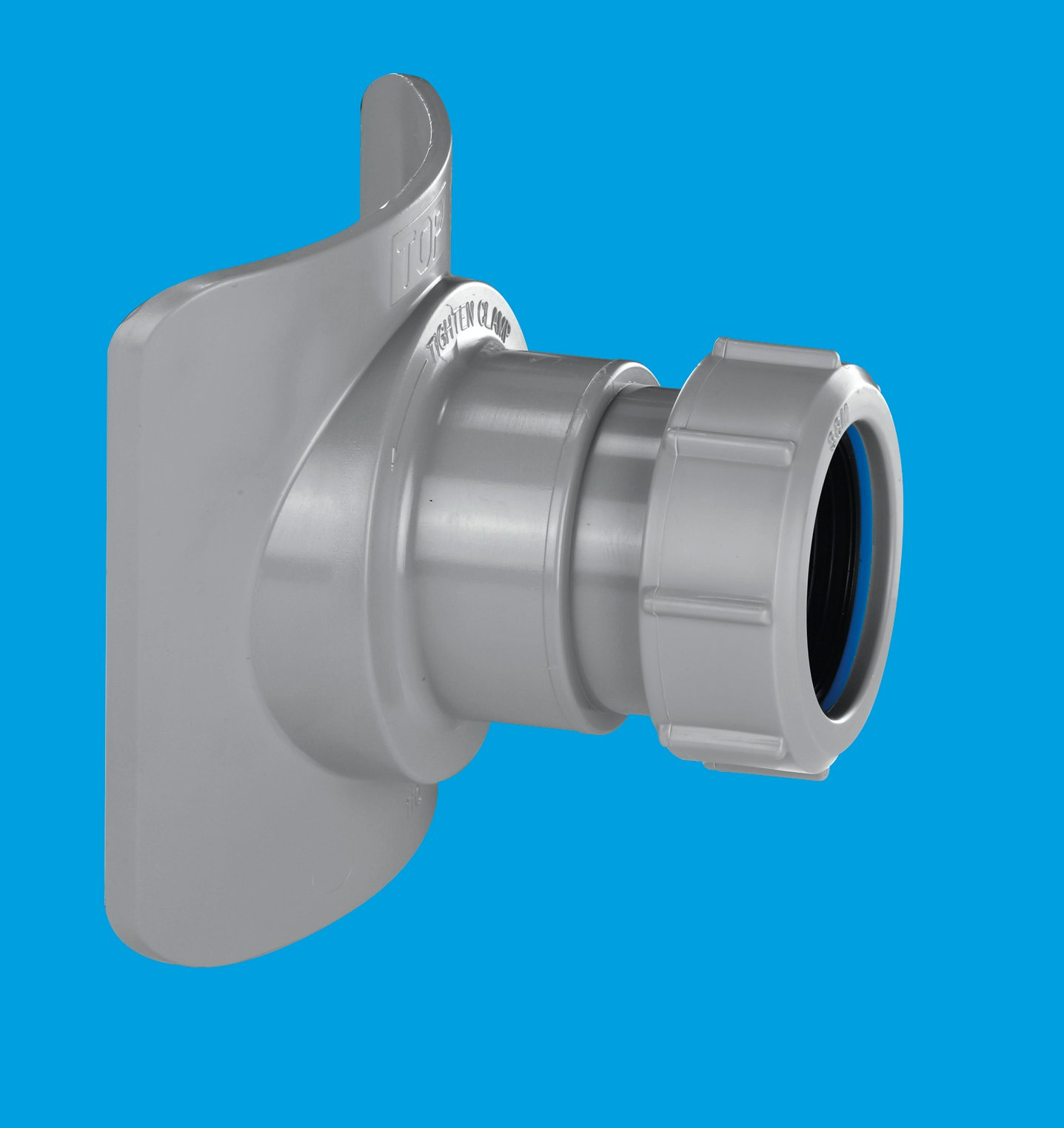 Grey mechanical soil pipe boss connector mcalpine