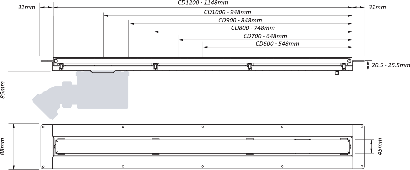 slimline channel drain